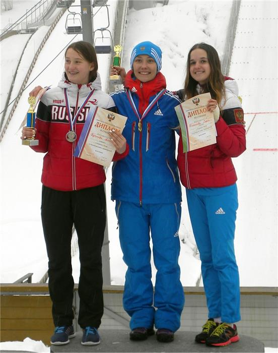 1 место - Ирина Аввакумова, 2 - Александра Кустова  и 3 - София Тихонова