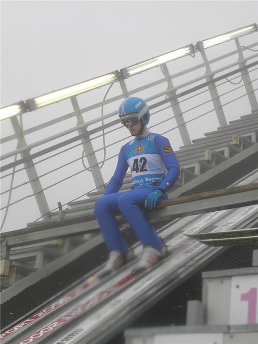 Вадим Шишкин готовится к прыжку