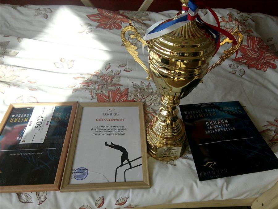 Награды тагильской команды по воркауту