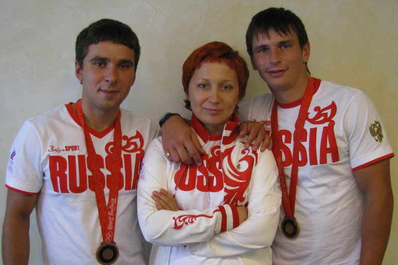 Ольга Гвоздева с воспитанниками