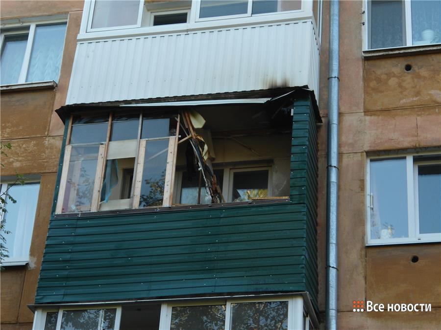 Пенсионер спалил балкон в жилом доме в центре нижнего тагила.