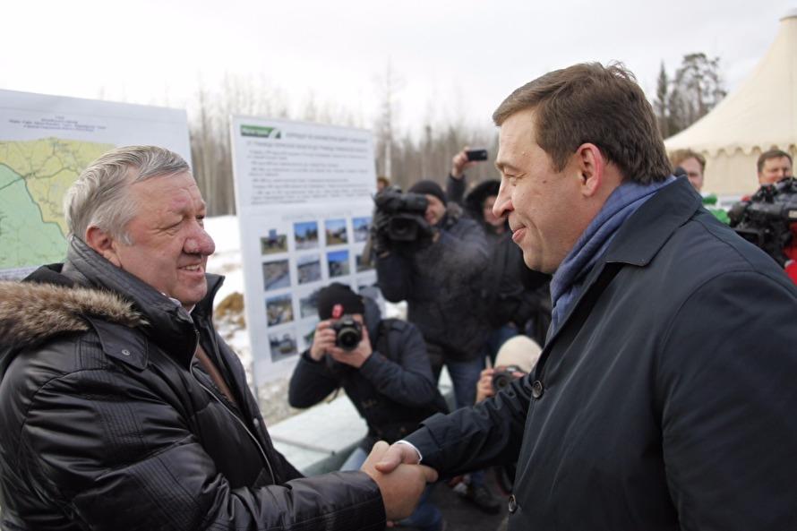Владимир Огибенин и губернатор Свердловской области Евгений Куйвашев
