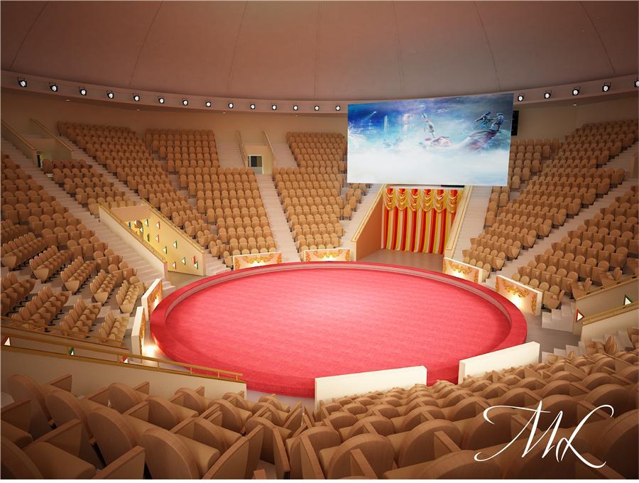 Дизайн интерьера обновлённого цирка
