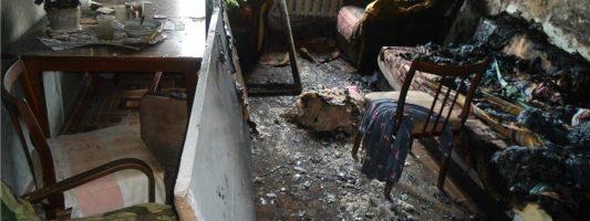 Два человека пострадали при пожаре в центре Нижнего Тагила