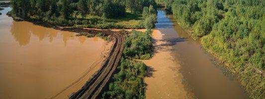 В реку Тагил сбрасывают коричневую воду. А городской пруд «позеленел» вслед на Черноисточинским